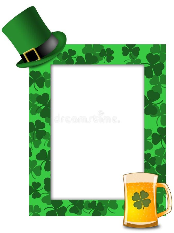 st shamrock patricks leprechaun шлема рамки дня пива бесплатная иллюстрация