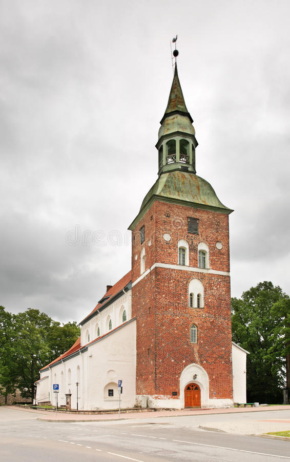 St Simon Church in Valmiera latvia fotografia stock libera da diritti
