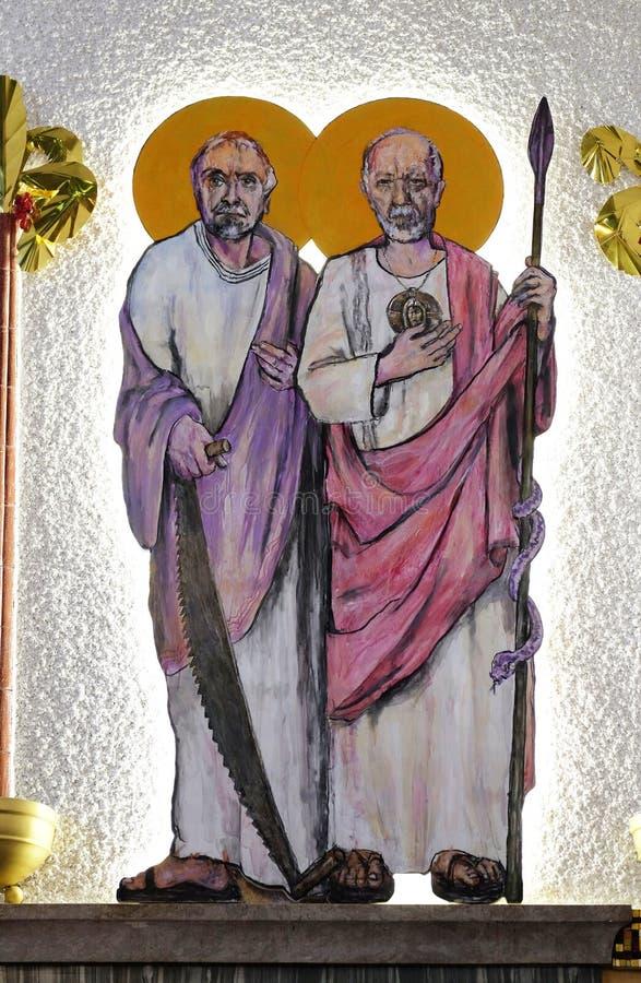 St Simon en St Judas Thaddaeus royalty-vrije stock foto
