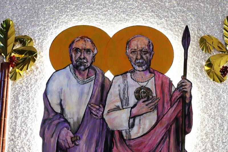 St Simon et St Judas Thaddaeus photos libres de droits