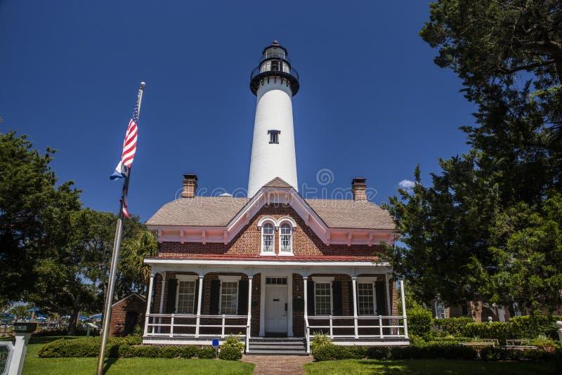 St. Simon Light House. The St. Simon Light House in Georgia stock photos