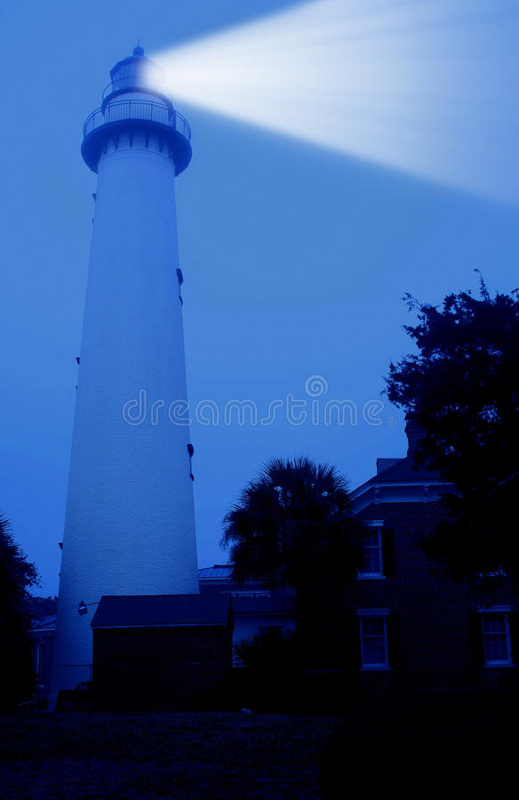 St Simons Island Lighthouse. Georgia Coast royalty free stock image