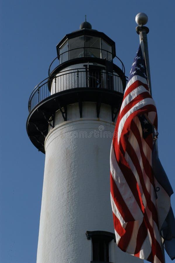 St. Simons Lighthouse stock image