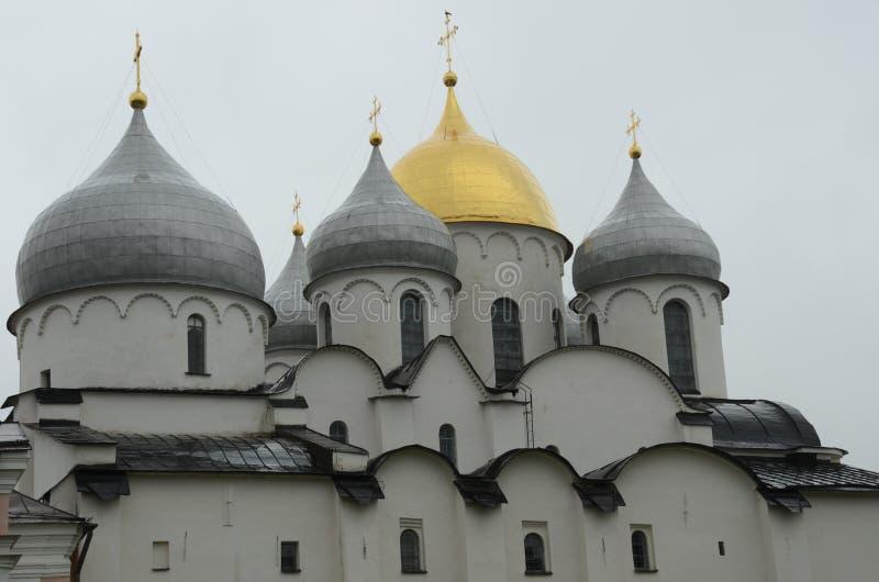 St Sofia Cathedral - Novgorod het Kremlin stock fotografie