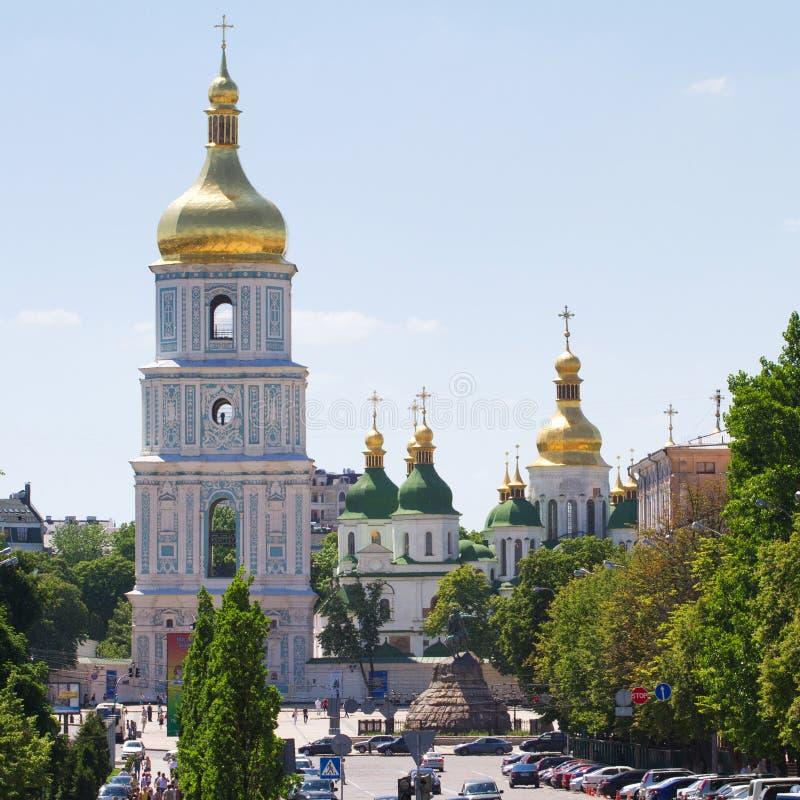 St. Sofia Kathedraal in Kiev royalty-vrije stock foto's