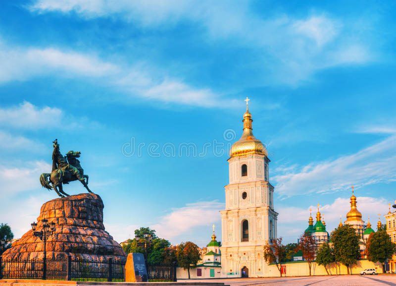 St. Sofia monastery in Kiev, Ukraine royalty free stock photography