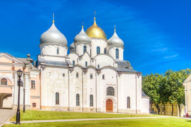 St Sophia Cathedral do Kremlin de Rússia Veliky Novgorod imagem de stock royalty free