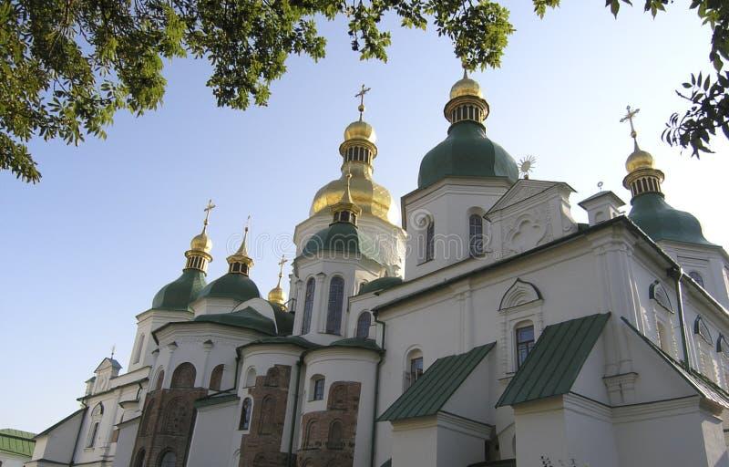 St Sophia Cathedral a Kiev Monumento di architettura antica un giorno di estate immagine stock libera da diritti