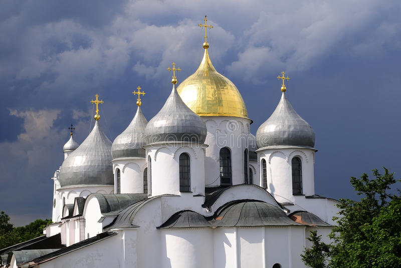 St. Sophia Cathedral in Novgorod, Russia stock photography