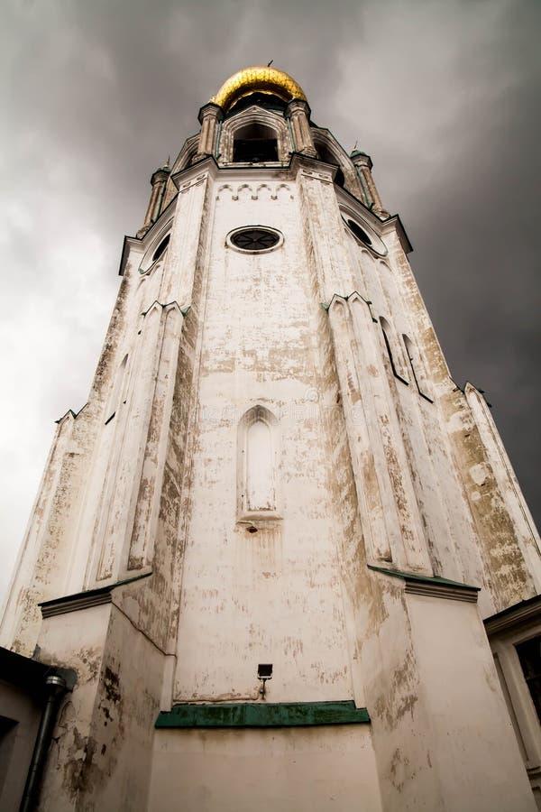St Sophia Cathedral, torre de sino de St Sophia Cathedral, Kremlin de Vologda Vologda, Rússia Tipos de Vologda postcards foto de stock