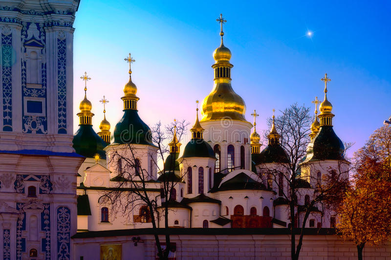 St. Sophia i Kiev royaltyfri bild