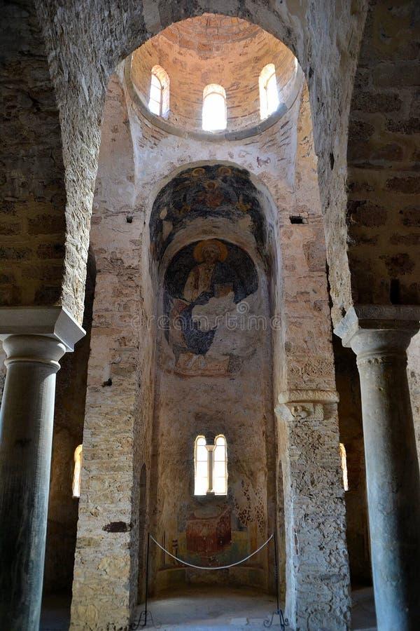 St.Sophia Kerk, Mystras stock afbeeldingen