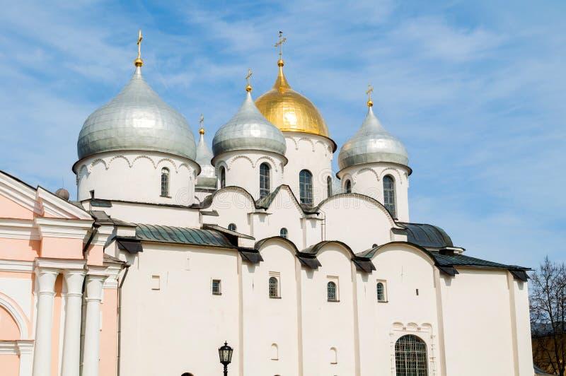 Καθεδρικός ναός του ST Sophia σε Veliky Novgorod, Ρωσία Κινηματογράφηση σε πρώτο πλάνο του ορόσημου Veliky Novgorod Ρωσία στοκ φωτογραφία με δικαίωμα ελεύθερης χρήσης