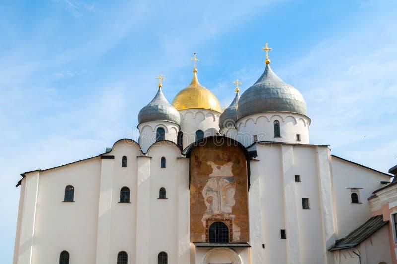 Καθεδρικός ναός του ST Sophia σε Veliky Novgorod, Ρωσία Κινηματογράφηση σε πρώτο πλάνο του ορόσημου Veliky Novgorod Ρωσία στοκ φωτογραφίες με δικαίωμα ελεύθερης χρήσης
