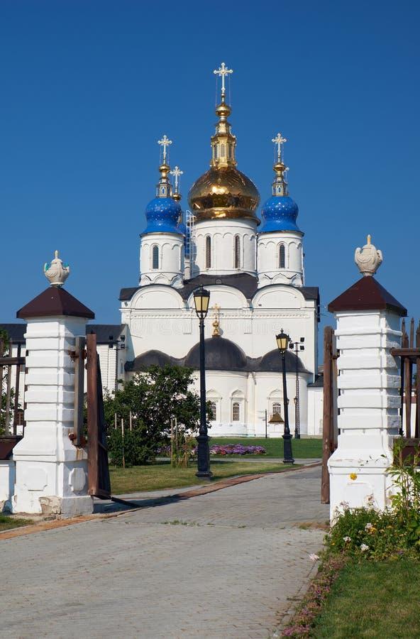 St sophia-Veronderstelling Kathedraal Tobolsk het Kremlin Tobolsk Tyumen Oblast Rusland stock foto