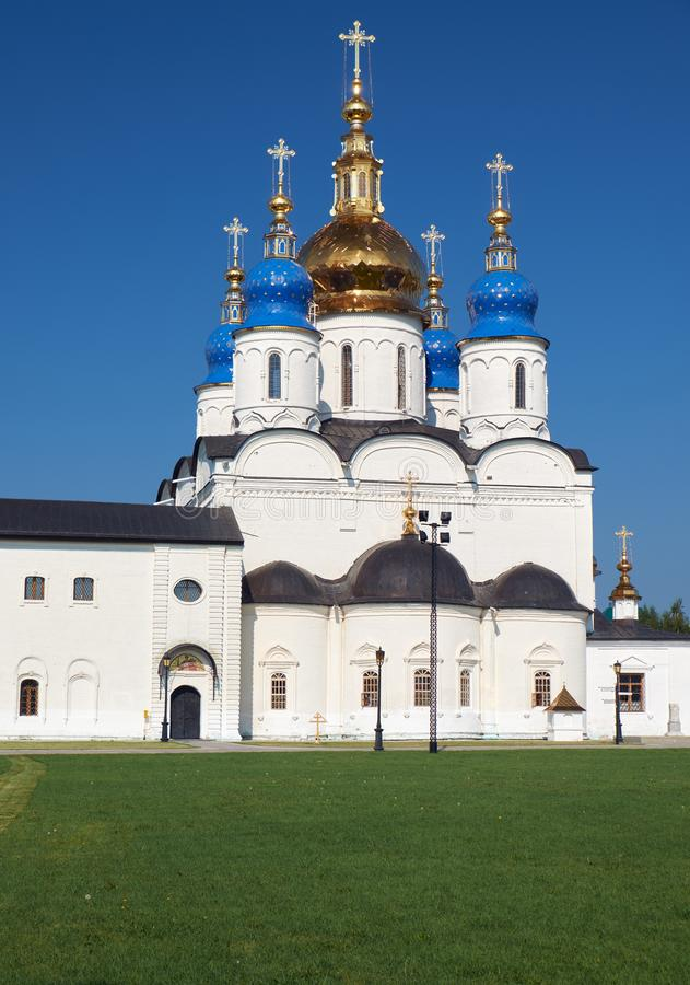 St sophia-Veronderstelling Kathedraal Tobolsk het Kremlin Tobolsk Tyumen Oblast Rusland stock fotografie