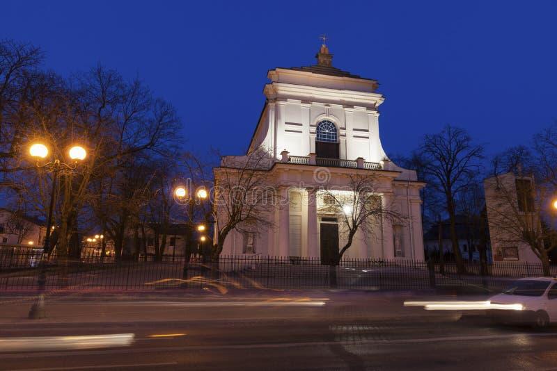 St Stanislaus教会在谢德尔采 免版税库存照片