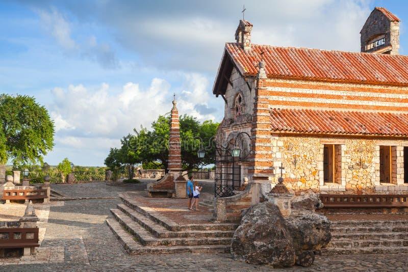 St Stanislaus教会, Altos de Chavon 免版税库存照片