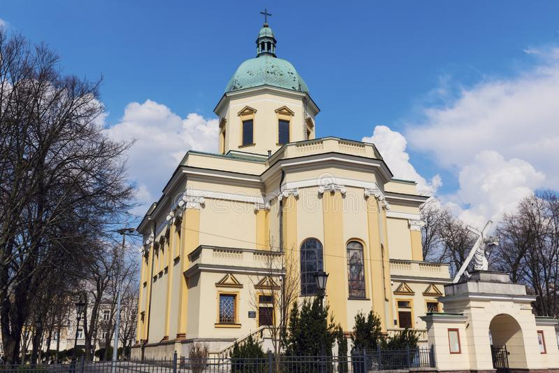 St Stanislaus驻军教会在拉多姆 免版税库存图片