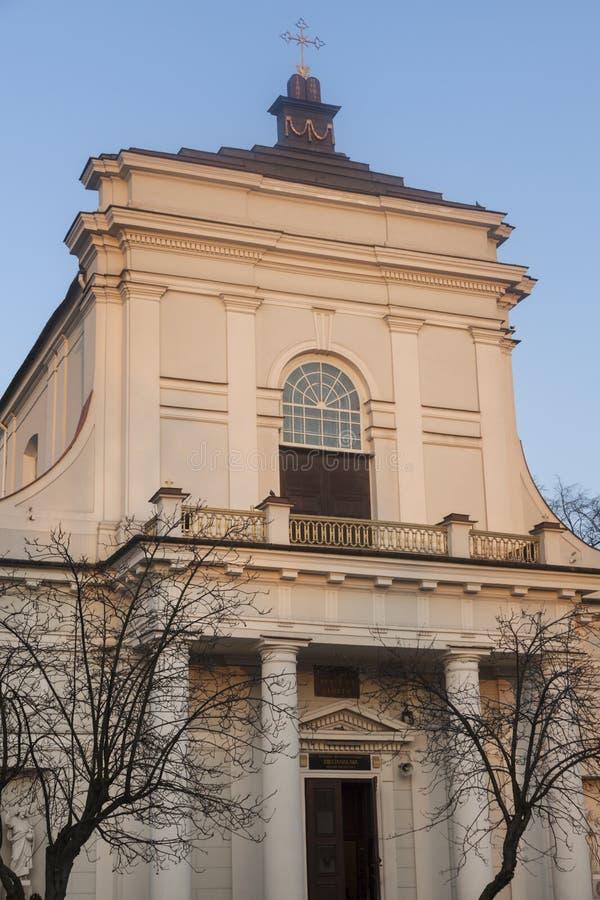 St Stanislaus Church in Siedlce in Polen royalty-vrije stock afbeelding