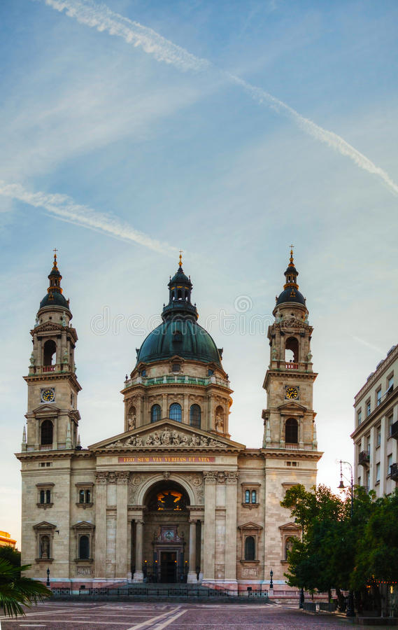 St. Stefan basiliek in Boedapest, Hongarije stock afbeeldingen