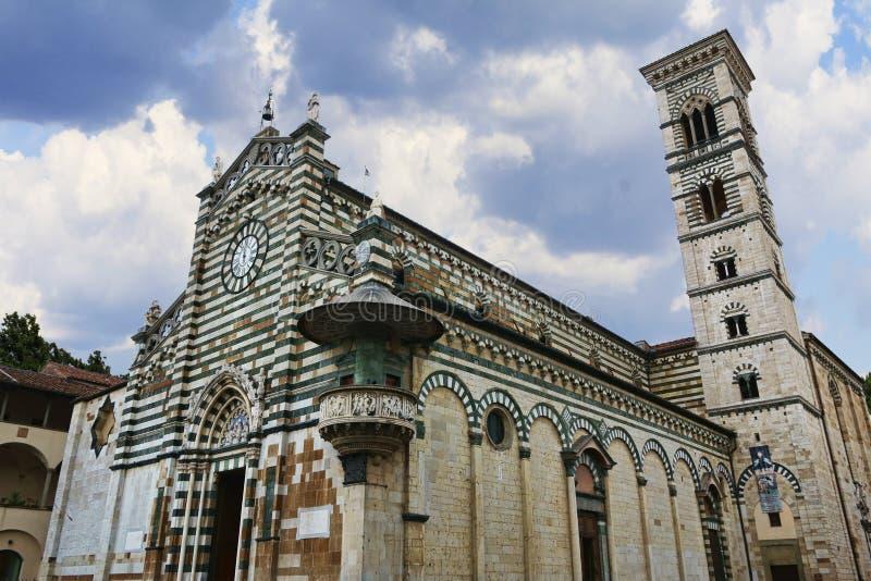 St Stefano Cathedral in Prato, Italië stock foto's