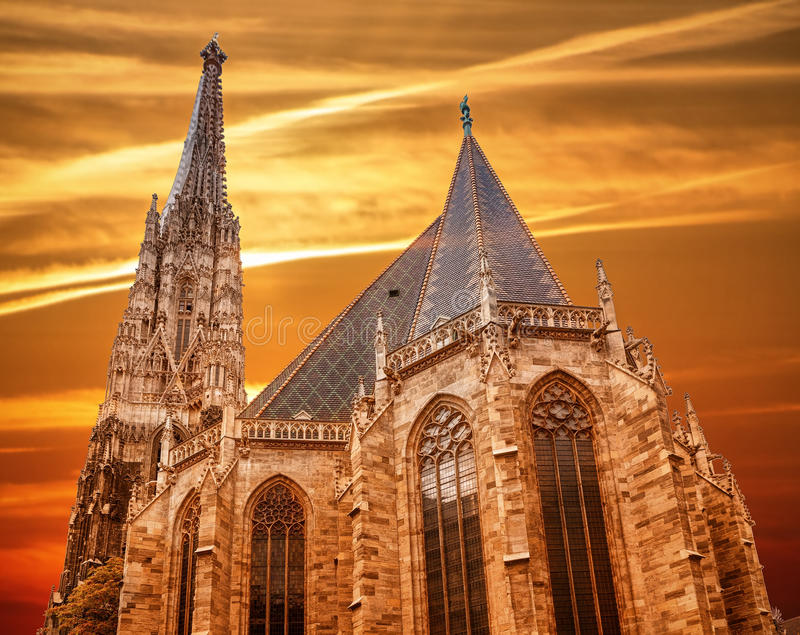 St. Stephan katedra w Wiedeń obrazy stock