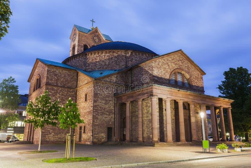 St Stephan kościół w Karlsruhe obrazy stock