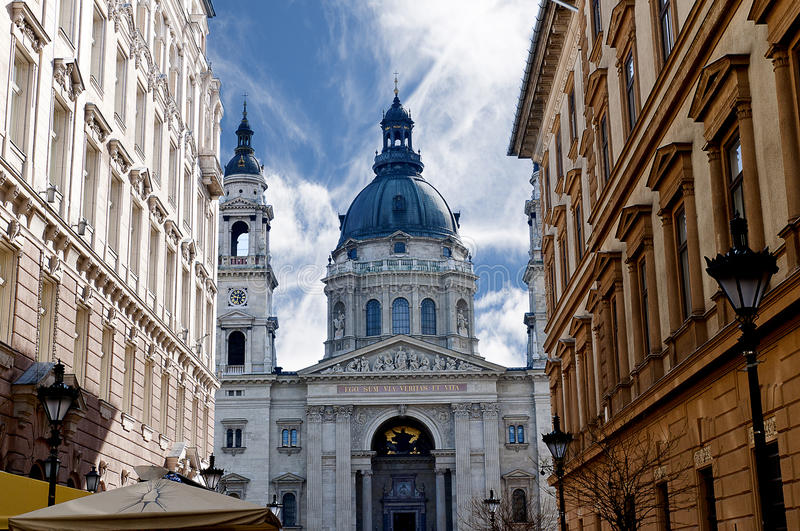 St Stephans Cathedral in Budapest Hungary. Budapest is the capital and the largest city of Hungary, the largest in East Europe. Budapest became a global city stock photo