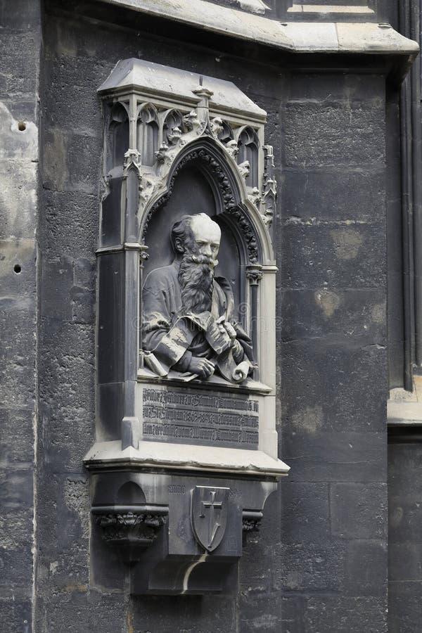 St StephenÂ的大教堂Stephansdom维也纳,哥特式窗口 库存照片