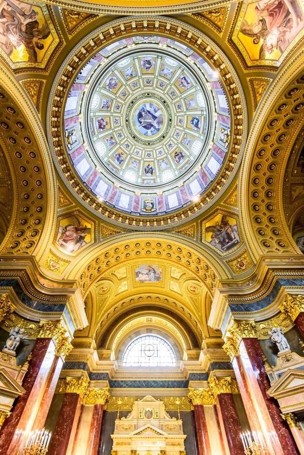 St. Stephen Basilica dome, Budapest, Hungary stock photography