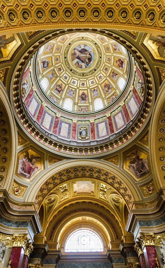 St. Stephen Basilica dome, Hungary stock image