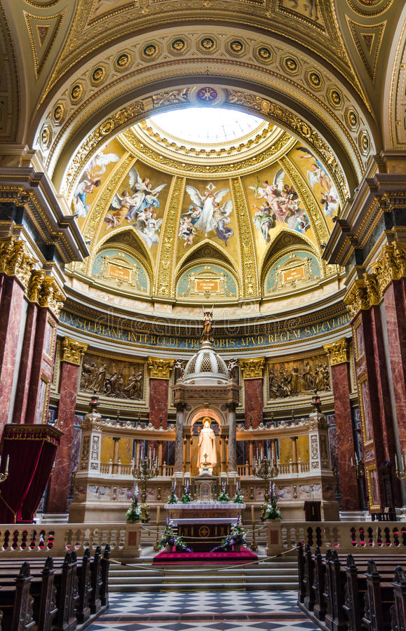St. Stephen Basilica dome, Hungary stock images