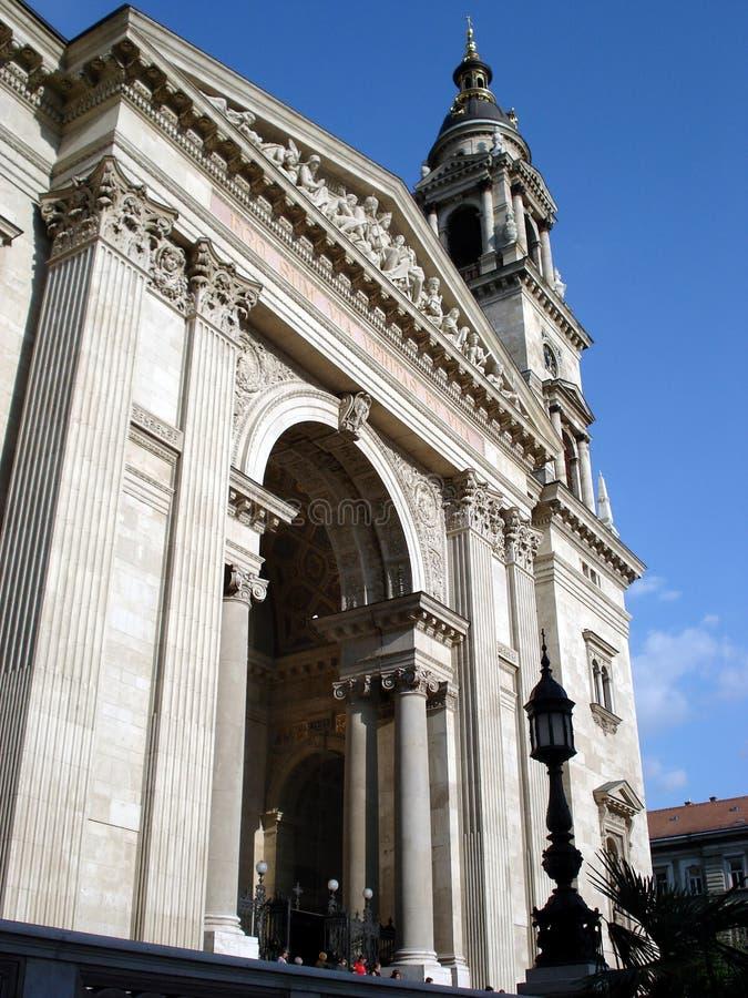 St. Stephen Basilica front stock image