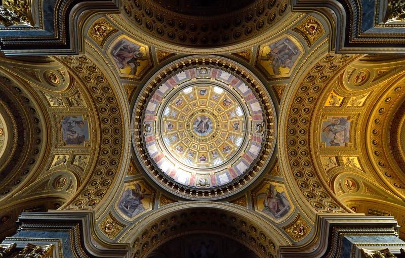 St Stephen Basilika, Budapest stockfotos