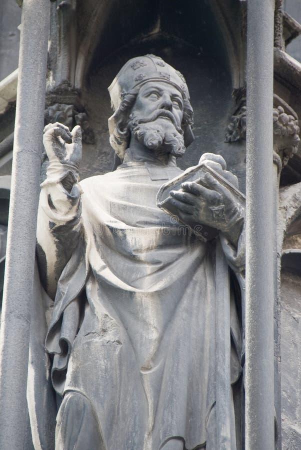 St. Stephen Church in Vienna - statue of a saint 2 stock photos