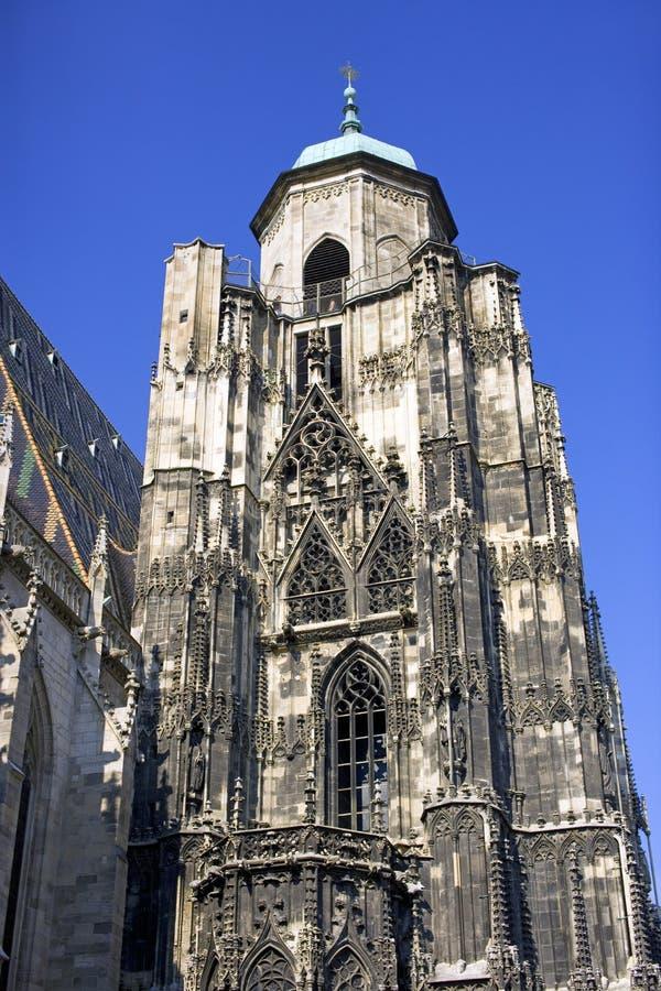 St Stephen gotisches Symbol Kathedralen-Österreichs Wien stockfotografie