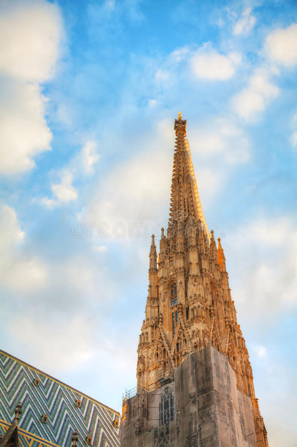 St. Stephen Katedralna iglica w Wiedeń, Austria fotografia royalty free