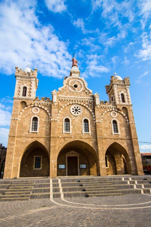 St Stephen Kirche in Batroun, der Libanon lizenzfreie stockfotos