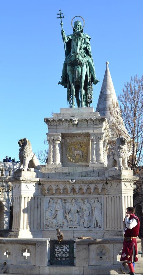 St Stephen Monument Budapest foto de archivo