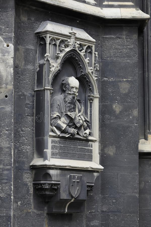St. Stephen´s Cathedral Stephansdom Vienna, gothic window stock photo