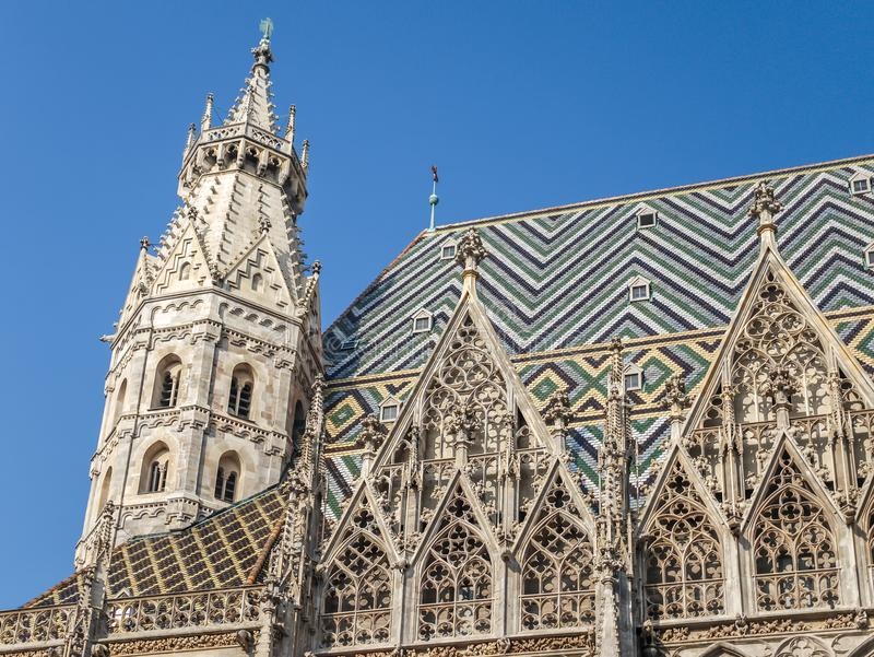 St. Stephen`s Cathedral, Vienna stock image