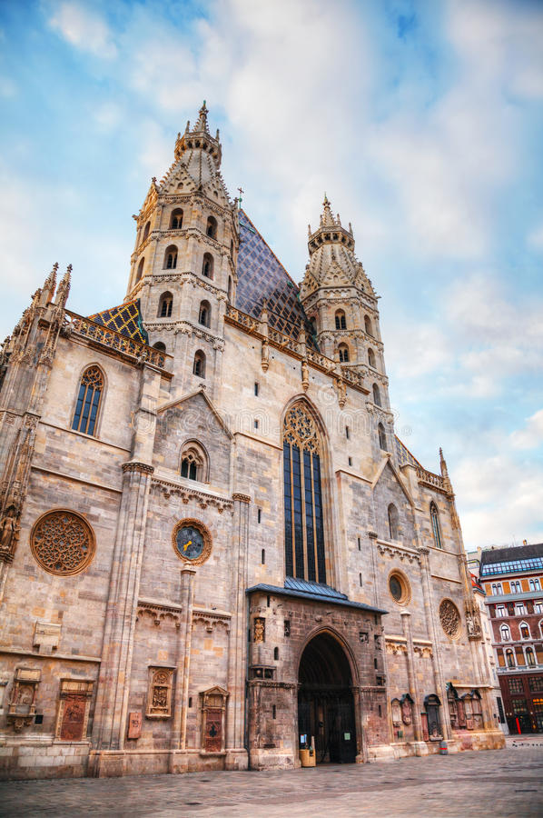 St. Stephen's Cathedral in Vienna, Austria stock image