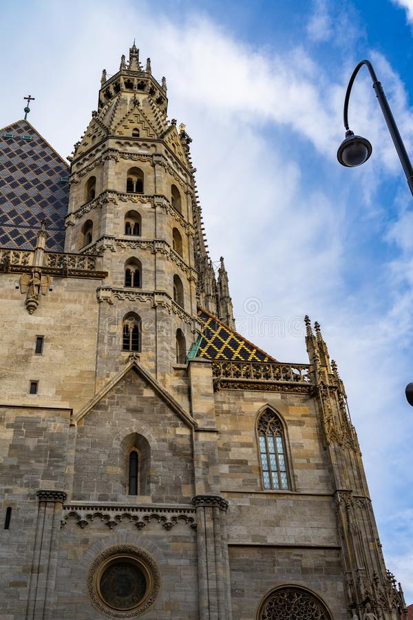 St Stephen& x27;s Cathedral in Vienna Wien, Austria. Architecture, austria, austrian, building, capital, cathedral, catholic, church, city, cityscape royalty free stock images