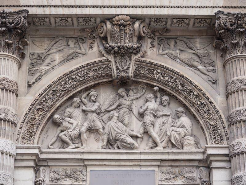 St Stephen ` s Kerk van het Onderstel in het Frans: église heilige-Etie stock foto
