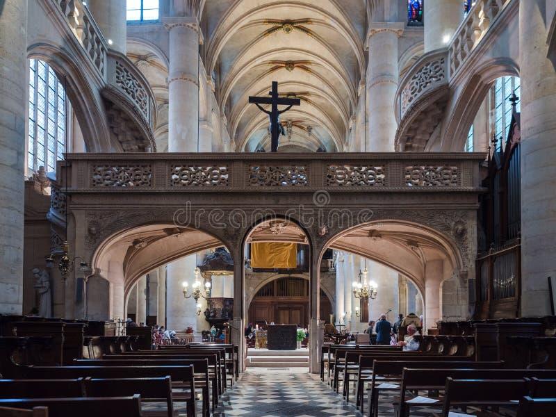 St Stephen ` s kościół góra, Paryż fotografia stock