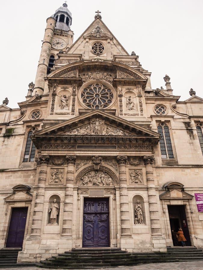 St Stephen ` s kościół góra w Francuskim: église świętego ‰ ti zdjęcia stock