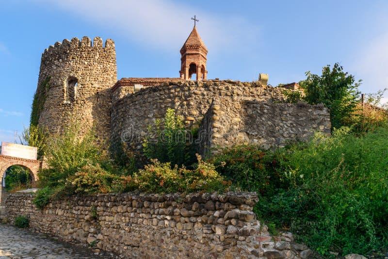St Stephen ` s kościół w Sighnaghi mieście Gruzja zdjęcia stock