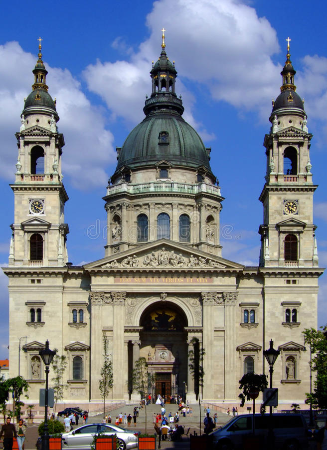 St Stephens Basilica Budapest stock afbeeldingen