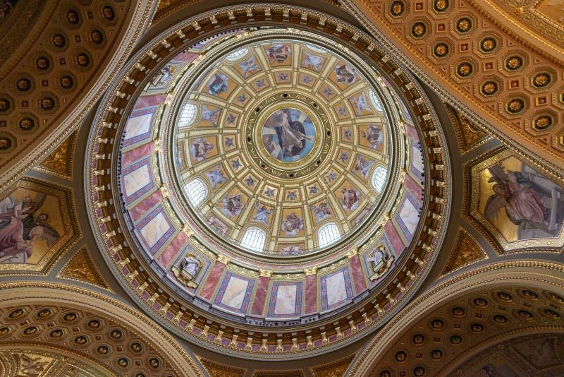 St Stephens Basilica Interior a Budapest, Ungheria fotografia stock libera da diritti